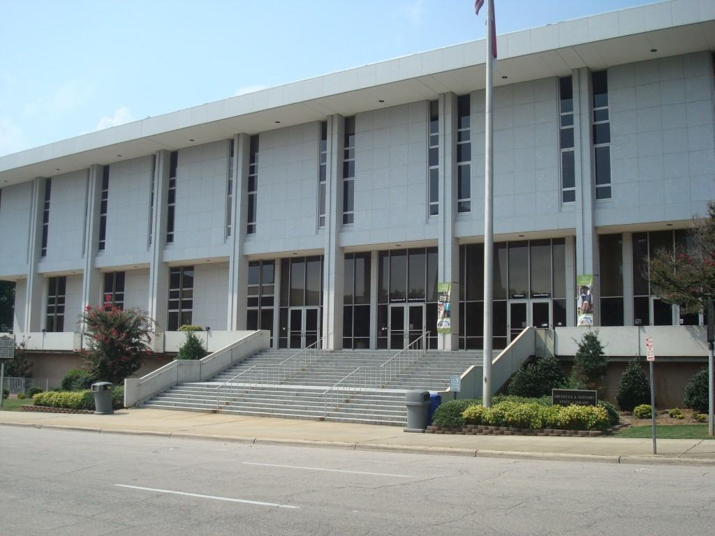 The State Library of North Carolina on Jones Street in Downtown Raleigh