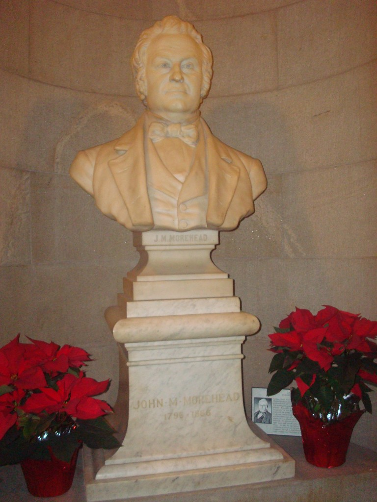 John M. Morehead - in the Capitol, Raleigh, N.C.