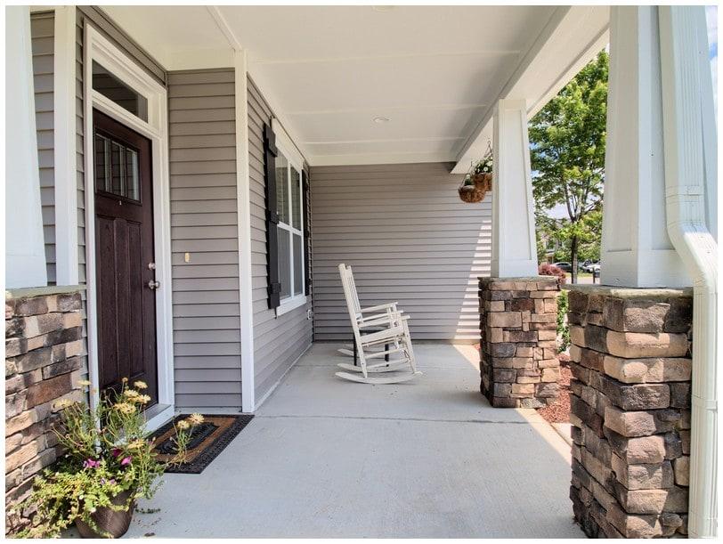 porch with landing 2933 landing falls lane raleigh nc